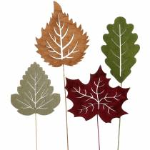 Plant plug leaf 8-10cm natural / green / purple 24pcs