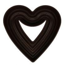 "Plant heart ""Amora"" 45cm brown, 1p"