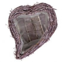 Plant heart from vine blackberry white washed 27cm x 24cm