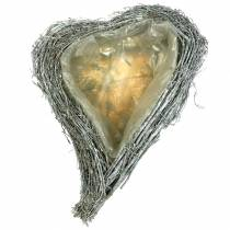 Plant heart branches white washed 40cm x 30cm