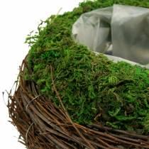 Planter bowl rattan, moss Ø16cm H11cm