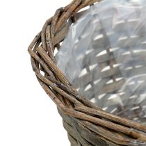 Planter bowl round gray Ø30cm H16cm 1p