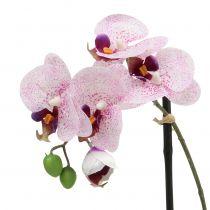Artificial Phalaenopsis purple-white in bowl H38cm