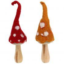 Mushrooms to place autumn decoration 2pcs