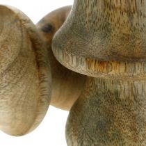 Mushroom mango wood natural wood mushroom autumn decoration Ø5cm H7.5cm 6pcs