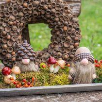 Assorted mushrooms 3cm x 5cm on wire 48pcs