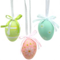 Easter eggs to hang multicolored 4cm 12pcs