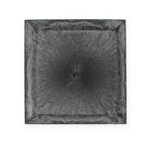 Square plastic plate anthracite 31cm x 31cm