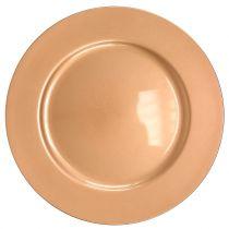 Plastic plate copper Ø33cm