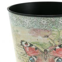 Decorative pot vintage butterfly Ø10.5cm