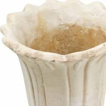 Planter, cup tulip, decorative goblet, amphora for planting Ø14.5cm H25.5cm
