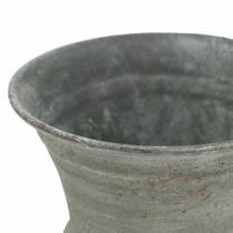 Planting cup goblet antique gray Ø7.5cm H9cm