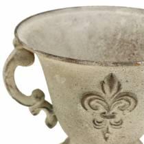 Cup bowl vintage cream Ø15cm H13.5cm