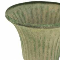 Cup antique green Ø9cm H10cm