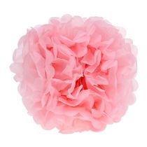 Pompom paper Ø30cm light pink 5pcs