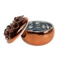 Porcelain jar copper Ø7.5cm H6cm