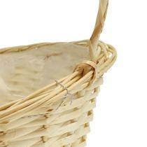 Present basket approx. 38cm x 27cm light