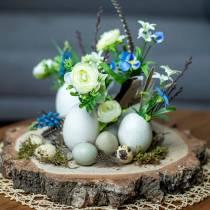 Ranunculus bouquet with grape hyacinths white 25cm