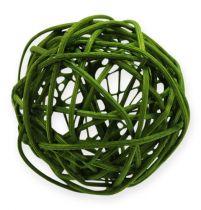 Rattan balls Ø4.5cm assorted green 30pcs