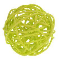 Rattan ball mix Ø5cm light green pale green bleached 30pcs.