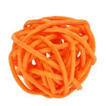 Rattan ball orange yellow apricot 72pcs