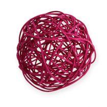 Rattan ball Ø10cm Fuchsia 10pcs
