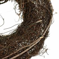 Vine wreath with willow nature Ø30cm 2pcs