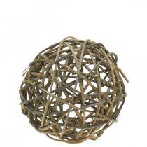 Deco ball grapevine natural dark Ø20cm