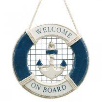 Decorative lifebuoy, maritime, floating ring to hang up Ø14cm
