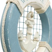Maritime decoration, lifebuoy with anchor, decoration swimming ring Ø14cm