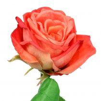 Rose artificial flower salmon 67.5cm
