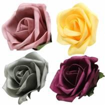 Foam Rose Ø15cm different colors 4pcs