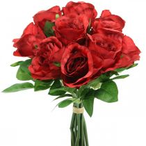 Rose artificial flower red artificial roses H30cm 10pcs in a bunch