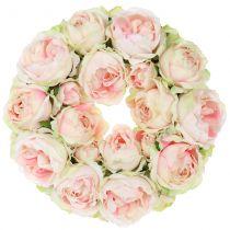 Rosary crème / pink Ø30cm