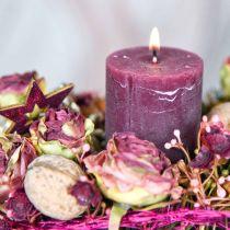 Roses antique pink, silk flowers, artificial flowers L23cm 8pcs