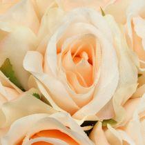 Rose bouquet peach Ø22cm