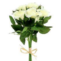 Bouquets of roses white L26cm 3pcs