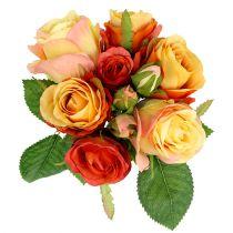 Bouquet of roses orange Ø17cm L25cm
