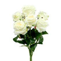 Rose bouquet white, cream 55cm