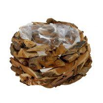 Bowl pieces of wood nature Ø28cm H16cm