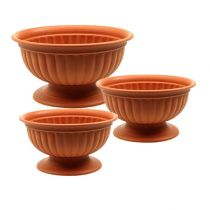 Bowl with foot terracotta Ø26cm - 35cm, 1p