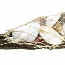 Decorative boat with shell mix 50cm