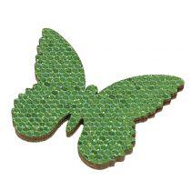 Sprinkle decoration butterfly green glitter 5/4 / 3cm 24pcs