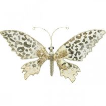 Butterfly to clamp, tree decoration, Advent, wedding decoration, decoration clip L16cm W13cm