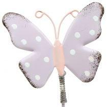 Flower studs butterfly pastel 24cm 12pcs