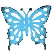 Flower studs butterfly colorful 22cm 12pcs