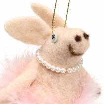 Pig to hang light pink 13cm