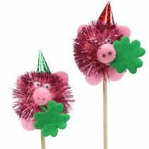 Decorative plug lucky pig 8pcs