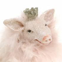 Decorative figure pig lucky charms 9cm 2pcs