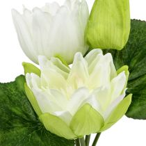 Water lilies artificial white 35cm